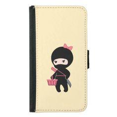 Shopping Ninja Girl on Yellow Wallet Phone Case For Samsung Galaxy S5  $29.65  by Chibibi  - custom gift idea