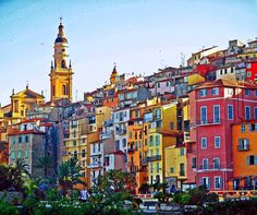 Menton, Cote d'Azur, France - otherwise known as the rainbow city! <3