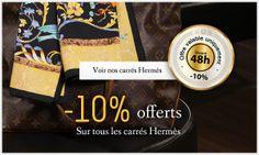 IDÉE CADEAU Pour Noel offrez un carré! Profitez-en, nous vous offrons 10% de remise sur tous nos carrés Hermès. Pour vous faire plaisir ou pour offrir, vous trouverez sur notre site des carrés à partir de 190 €.  Dépêchez-vous, cette offre n'est valable que pendant 48h ! Et rappelez-vous que les frais de livraison sont toujours inclus. http://www.opportunities.fr/accessoires/carres.html OPPORTUNITIES, LE LUXE D'OCCASION AUTHENTIFIÉ PAR DES EXPERTS AGRÉÉS.