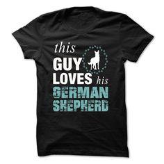This Guy Loves His German Shepherd - TT1