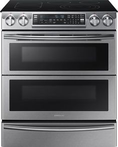 Samsung 5.8 Cu. Ft. Electric Flex Duo Self-Cleaning Slide-In Smart Range with Convection Stainless steel NE58K9850WS - Best Buy