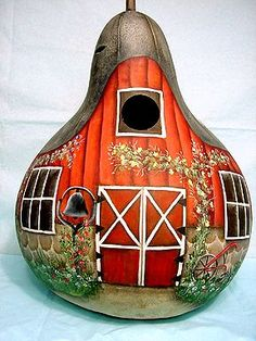 best ideas about Painted Gourds Decorative Gourds, Hand Painted Gourds, Bird Houses Painted, Painted Birdhouses, Gourds Birdhouse, Arte Popular, Gourd Art, Tole Painting, Nature Crafts