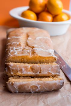 Tangerine Drizzle Cake; it reminds me of an orange bread loaf my grandma made.