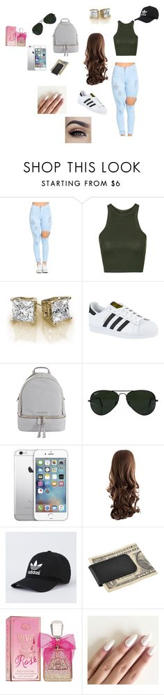 """""""Untitled #1"""" by adili12 ❤ liked on Polyvore featuring Topshop, adidas, MICHAEL Michael Kors, Ray-Ban, AT&T, Zodaca and Juicy Couture"""