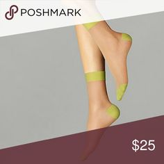 Wolford -- Clara Socks Brand new in Small size, color in Gobi / Green Apple. Wolford Accessories Hosiery & Socks