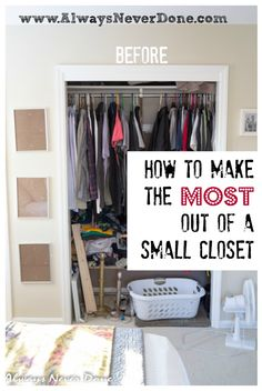 Rethink your small closet with this totally doable DIY (Diy Closet Makeover) Small Master Closet, Tiny Closet, Closet Space, Bedroom Small, Small Apartment Closet, Corner Closet, Couple Bedroom, Trendy Bedroom, Dream Bedroom