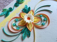Paper Quilling Art Blank Greeting Card for by DesignsByDenisa