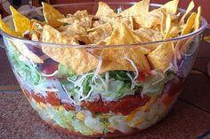 Taco-Salat Taco salad, a good recipe from the Party category. Dorito Taco Salad Recipe, Taco Salad Doritos, Taco Salad Bowls, Taco Dip, Lentil Salad Recipes, Taco Salad Recipes, Mexican Food Recipes, Taco Salat, Salads