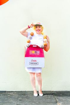 Last Minute DIY Dunkin Donuts Munchkins Inspired Costume!