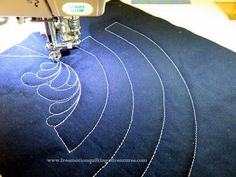 Free Motion Quilting Practice: Feathers Top to Bottom
