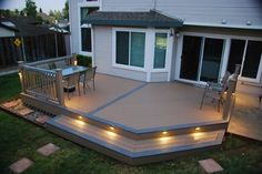 View our Deck and Railing photo gallery. Get outdoor living inspiration with our variety of Deck photos. Deck designs and plans. Backyard Patio Designs, Backyard Ideas, Patio Ideas, Floating Deck, Decks And Porches, Outdoor Living, Terrazzo, Google Search, Outdoors