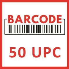 (50) UPC EAN Barcodes Codes Numbers GS1 for Amazon - eBay Verified Product ID   eBay Personalized Return Address Labels, Packaging Suppliers, Spice Labels, Numbers, Coding, Amazon, Ebay, Amazons, Riding Habit