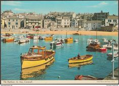 The Harbour, St Ives, Cornwall, 1974 - John Hinde Postcard