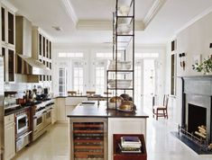beautiful kitchen - lovely shelves