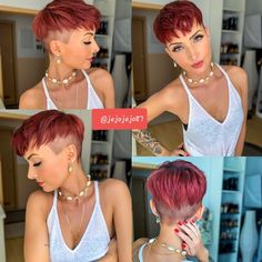 Short Hair Tomboy, Short Punk Hair, Funky Short Hair, Short Hair Cuts For Women, Short Hair Styles, Undercut Hairstyles Women, Short Hair Undercut, Pixie Haircut For Thick Hair, Cut My Hair