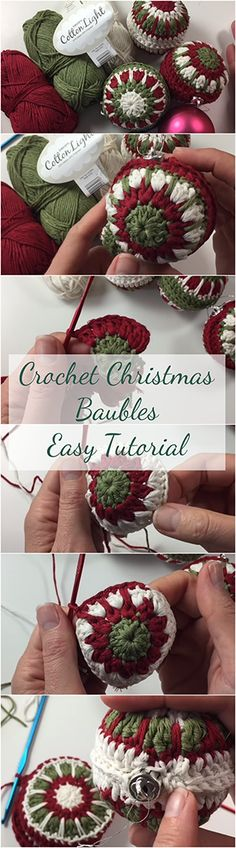 Crochet Christmas Baubles Easy Tutorial