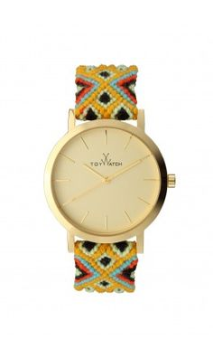 Love it.  Maybe I can make a band like this for a watch I own. Keep a look out for bracelets that can be altered...