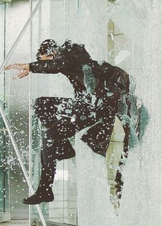 Benedict jumping through glass in Star Trek into Darkness. It's just... too sexy not to pin.
