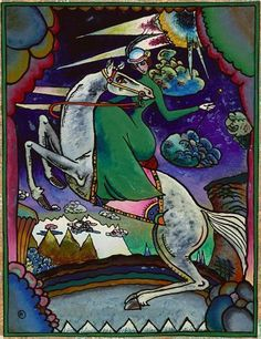 deadpaint — Wassily Kandinsky, Amazon in mountains