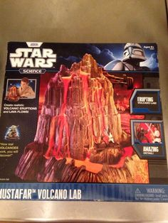 "Star Wars Themed ""Mustafar Volcano Lab"" Educational Gift Game Uncle Milton 