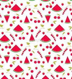 Pattern watermelon cherry raspberry currant