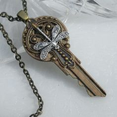 Victorian Silver Key Pendant  Oooo I la-la-la-LOVE this key necklace! The key to immortality is first living a life worth remembering.  ~Bruce Lee