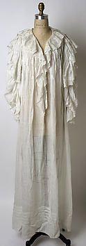 Nightgown  Date: 1900–1903  Medium: linen