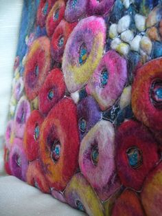 Felt Picture. Flowers. от HappyColorfulFelting на Etsy