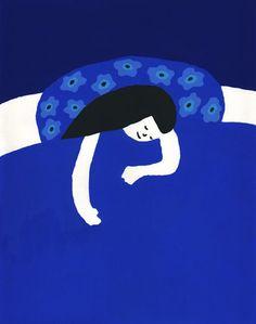 Pinzellades al món: dormir Art And Illustration, Pattern Illustration, Illustrations Posters, Foto Art, Blue China, Blue Art, Freelance Illustrator, Art Inspo, Illustrators