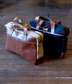 These leather and canvas briefacases/courier bags from Deus Ex Machina are perfect for those days you need carry more than your cellphone, helmet and keys..