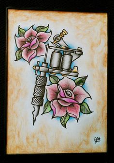 Tattoo Machine traditional by ~ch1pm0nk on deviantART