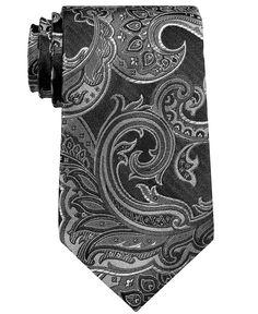 Perry Ellis Big and Tall Tie, Veloutine Paisley - Mens Ties - Macy's