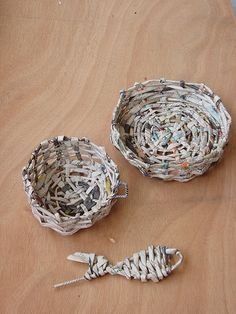 baskets from newspaper