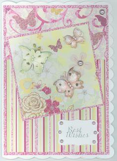 Birthday card 2013 female; butterflies