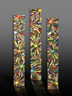 Multi media mosaic panels $225 each