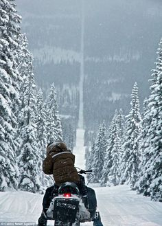 Border between Norway & Sweeden - The snowy line (border) is more than 1000 miles long - making it the longest border for either country.