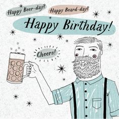 Andrew Smith - Happy Birthday Beer Beard Hipster Male Andrew Smith