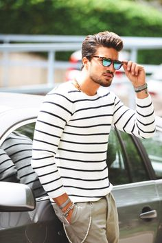 Striped sweater #menswear