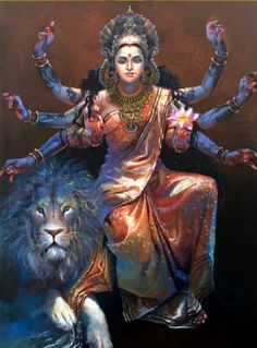 Lord Shiva is Sitting and Durga is Creating Kali from Her Third Eye (via Dolls of India) Shiva Parvati Images, Durga Images, Shiva Hindu, Shiva Art, Shiva Shakti, Hindu Deities, Hindu Art, Hanuman Images, Saraswati Goddess