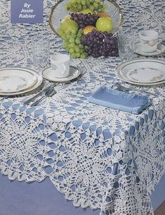 Dynamic Tablecloth Crochet Pattern, Rectangular