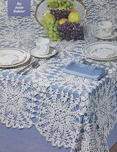Dynamic Tablecloth Crochet Pattern, Rectangular