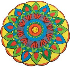 ⊰❁⊱ Mandala ⊰❁⊱ Yellow M: Some painters transform the sun into a yellow spot; others transform a yellow spot into the sun