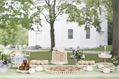 Romantic Springtime #StyledShoot on WellWed.com | Cake: BakeAria | Event Rentals: Vermont Tent Company | Floral Design: Creative Muse Floral Design | Gown: Fiori Bridal Boutique | Hair: Finishing Touch | Makeup: Beatriz Jarvis, Vermont Makeup | Papergoods: Lasso'd Moon Designs | Photography: Lis Photography | Venue: The Round Church