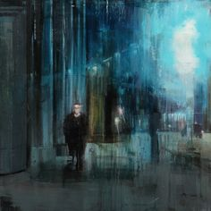 "Brett Amory; Oil, 2012, Painting ""Waiting#145"""