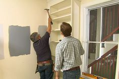 This Old House general contractor Tom Silva shows how to transform stock shelving into a custom built-in.