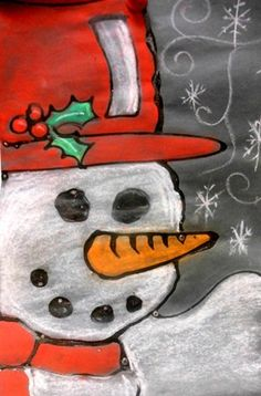 snowman - good one for canvas