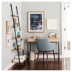 Darley 5 Shelf Leaning Bookcase - Walnut (Brown) - Threshold
