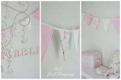 Kukkaviiri lastenhuoneeseen - Banderoll med blommor