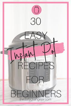 If you are considering (or have already bought) a pressure cooker, here are some Instant Pot recipes for beginners to get you started cooking like a pro. Best Instant Pot Recipe, Instant Pot Dinner Recipes, Pressure Cooker Recipes, Pressure Cooking, Recipes For Beginners, Great Recipes, Frugal Recipes, Instant Pot Pot Roast, Change Jar