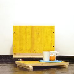 | name: concrete | year: 2012 | function: stool, bedsidetale, bookcase, tray | material: solid spruce, Yellow | dimensions: 45x45x60 cm | Roberto Canali holds the intellectual property on pictures and design |